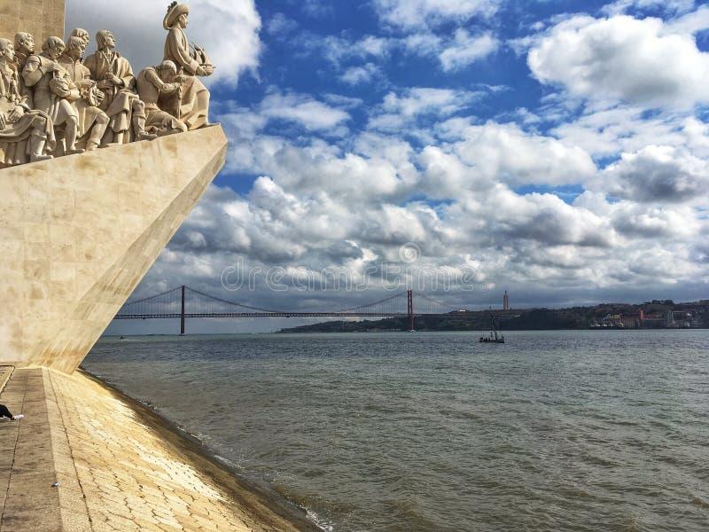 Monument in Lissabon royalty-vrije stock afbeelding