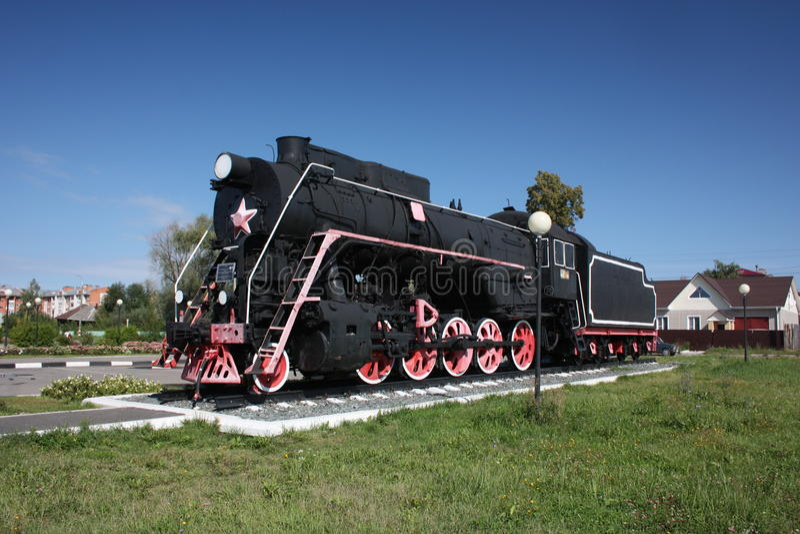 Download Monument Locomotive At The Station Shumerlya. Stock Image - Image: 26508167