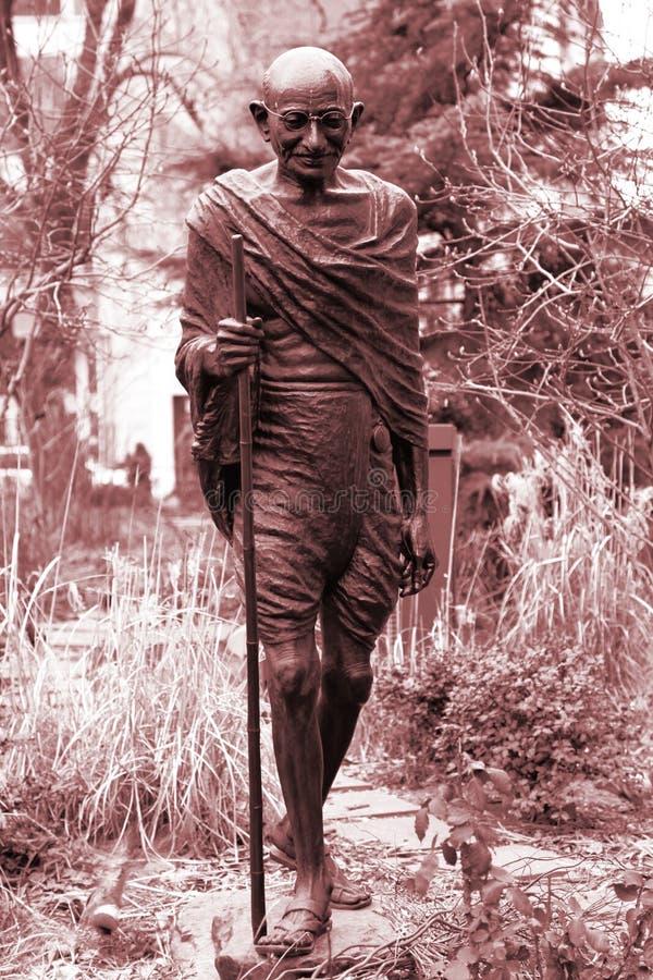 Monument Mahatma Gandhi in NY royalty-vrije stock foto's
