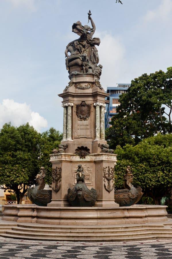 Monument in Manaus Brazilië royalty-vrije stock afbeeldingen