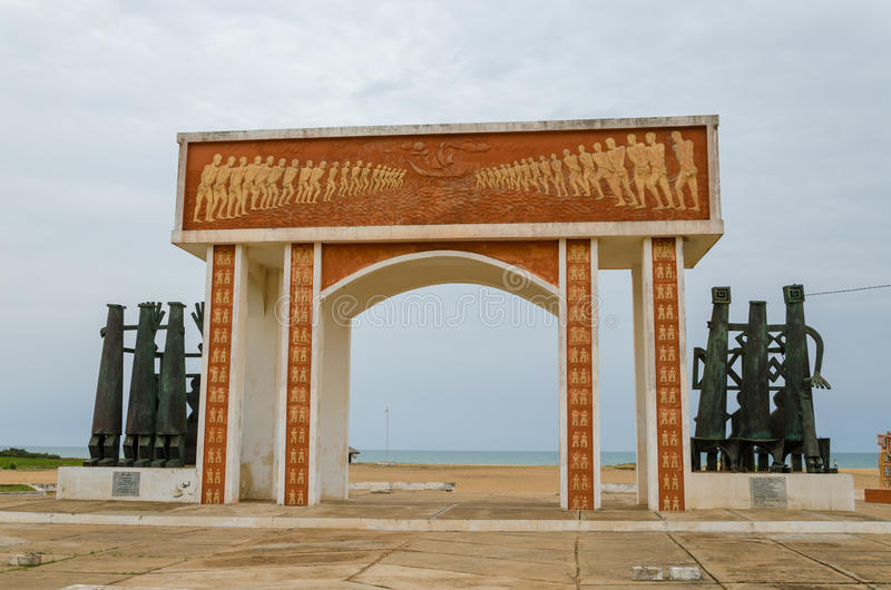 Monument or memorial of the slave trading time at the coast of Benin. Near Ouidah royalty free stock images