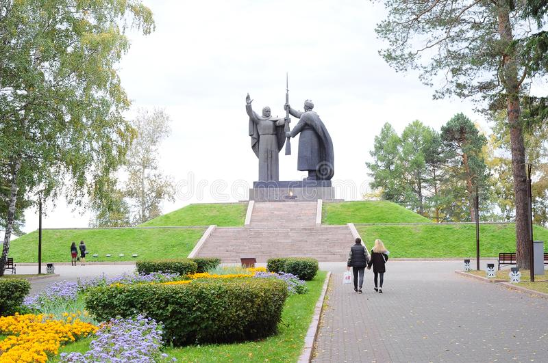 Monument of memory to those who died in the Great Patriotic War, Tomsk. royalty free stock photos