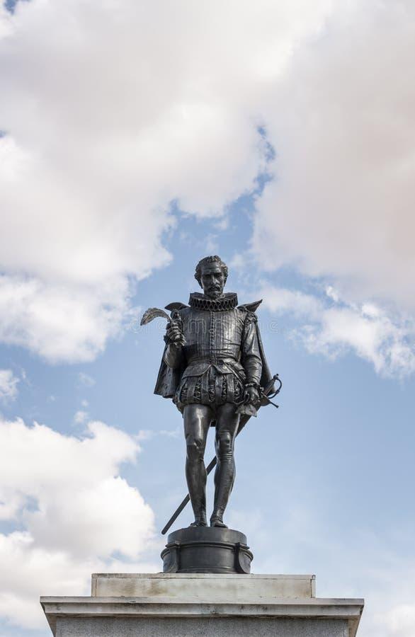 Monument ? Miguel de Cervantes image stock