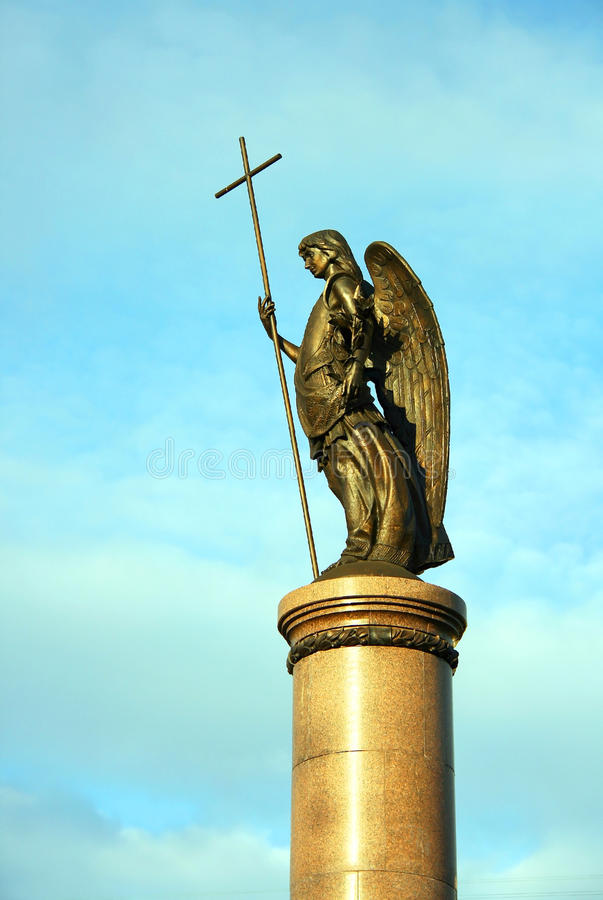 Download Monument Of Millennium Of The Brest Stock Image - Image of brest, angel: 22545079