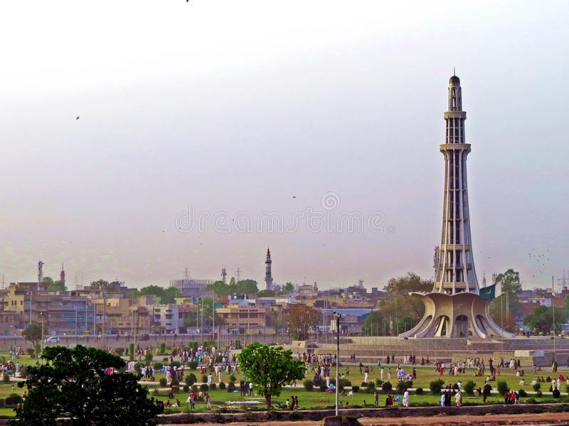 monument Minar-e-Pakistan, Lahore, Pakistan royalty free stock image