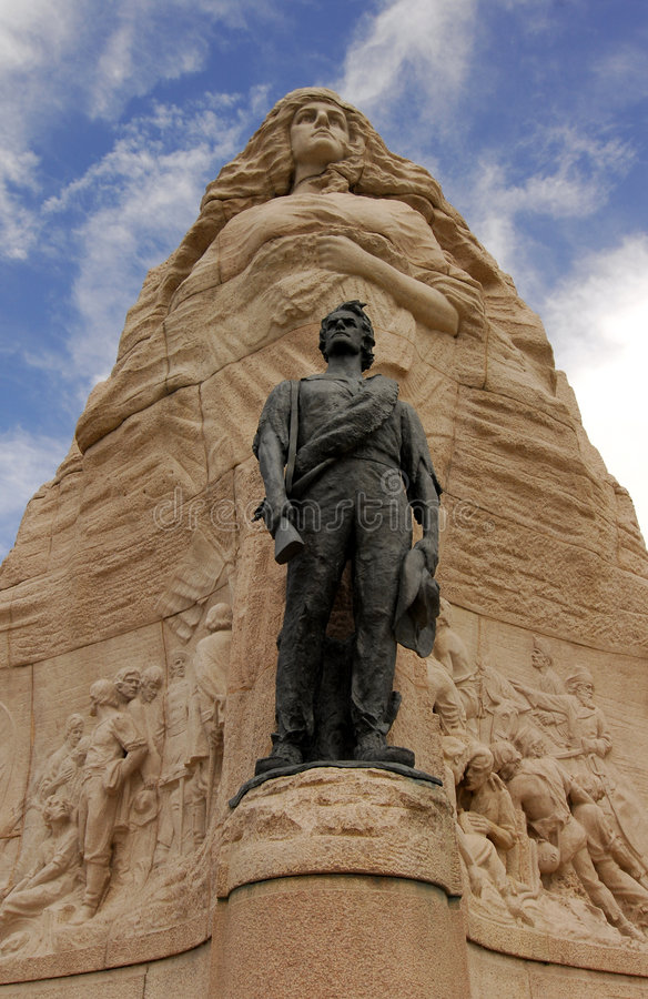 Monument for mormon battalion royalty free stock photo