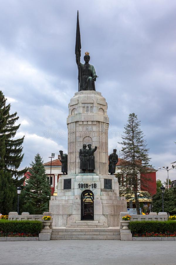 Monument of Mother Bulgaria stock image