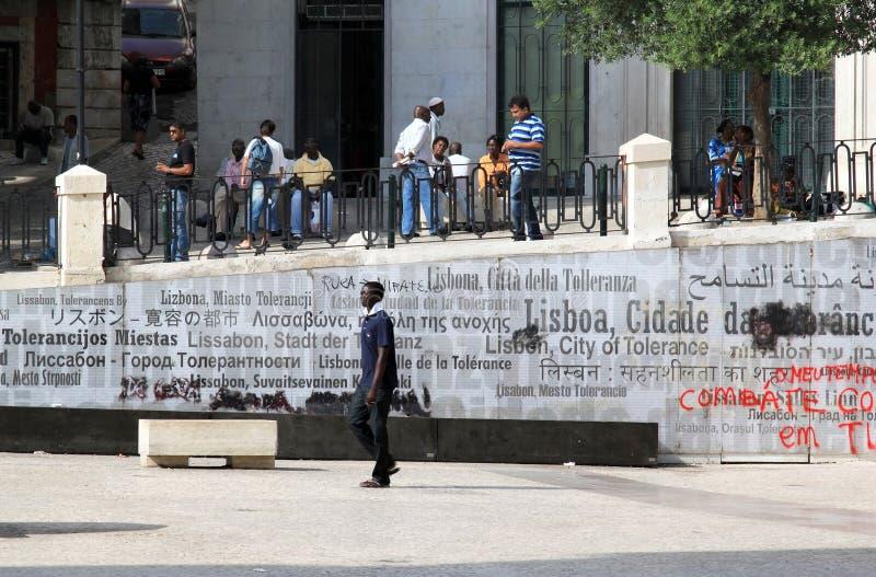 Monument multiculturel de société et de tolérance photographie stock libre de droits