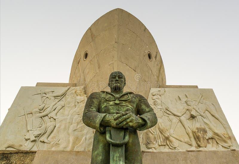 Monument nach Syrakus gefallen in Afrika Syrakus - Italien lizenzfreies stockfoto
