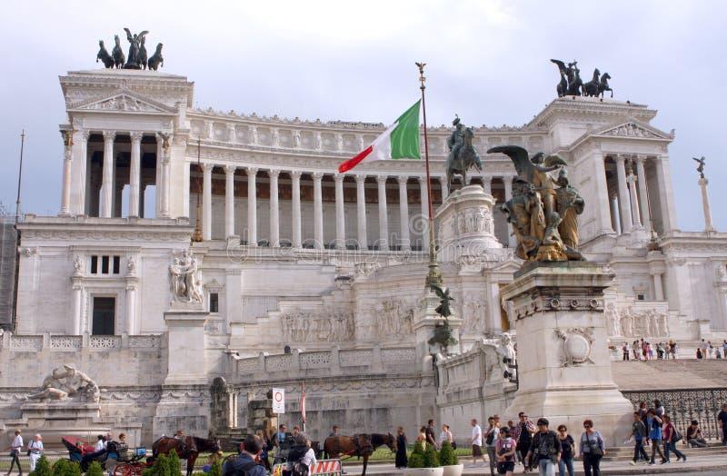 Monument national à Victor Emmanuel II Rome - Italie photo libre de droits