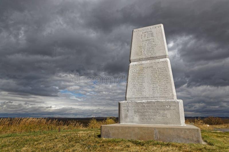Monument national de champ de bataille de Little Bighorn images libres de droits