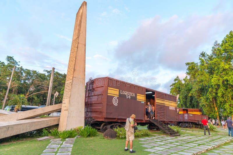 Monument national de train blindé ou de Tren Blindado images stock