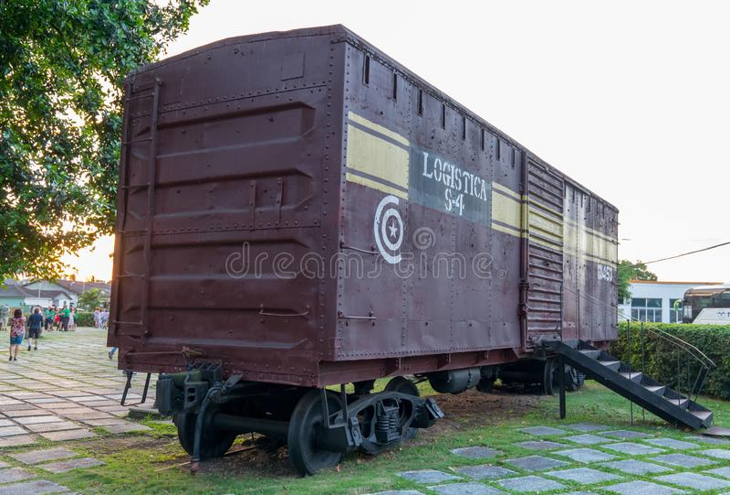 Monument national de train blindé ou de Tren Blindado photographie stock