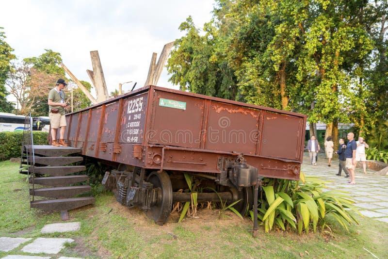 Monument national de train blindé ou de Tren Blindado image libre de droits