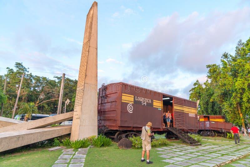 Monument national de train blindé ou de Tren Blindado photos stock