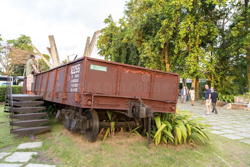 Monument national de train blindé ou de Tren Blindado photos libres de droits