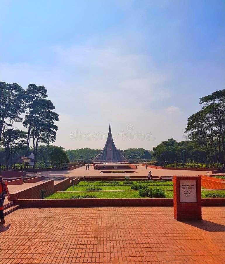 Monument national du Bangladesh images libres de droits
