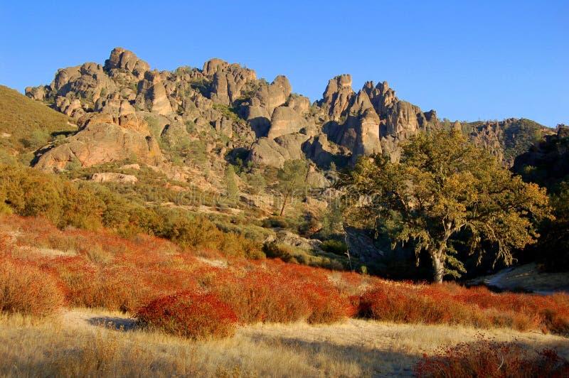 Monument national la Californie de roche de pinacle photographie stock libre de droits