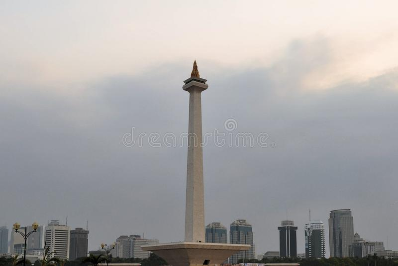 Monument national Monas, Jakarta central photos libres de droits