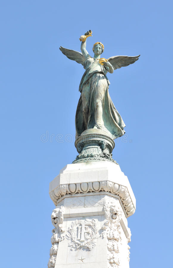 Monument in Nice, France royalty free stock image