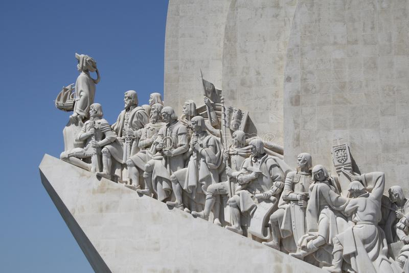 Padrão dos Descobrimentos. Is a monument on the northern bank of the Tagus River estuary, in the civil parish of Santa Maria de Belém, Lisbon. Located stock image