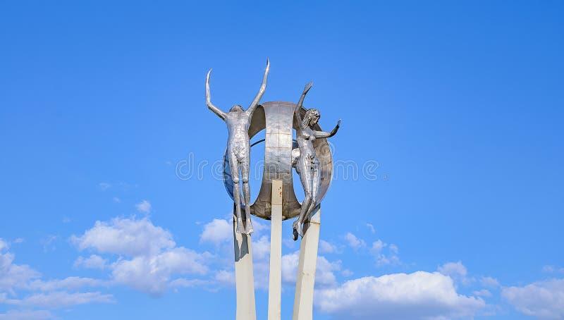 Monument O Passageiro in Londrina-stad royalty-vrije stock foto's