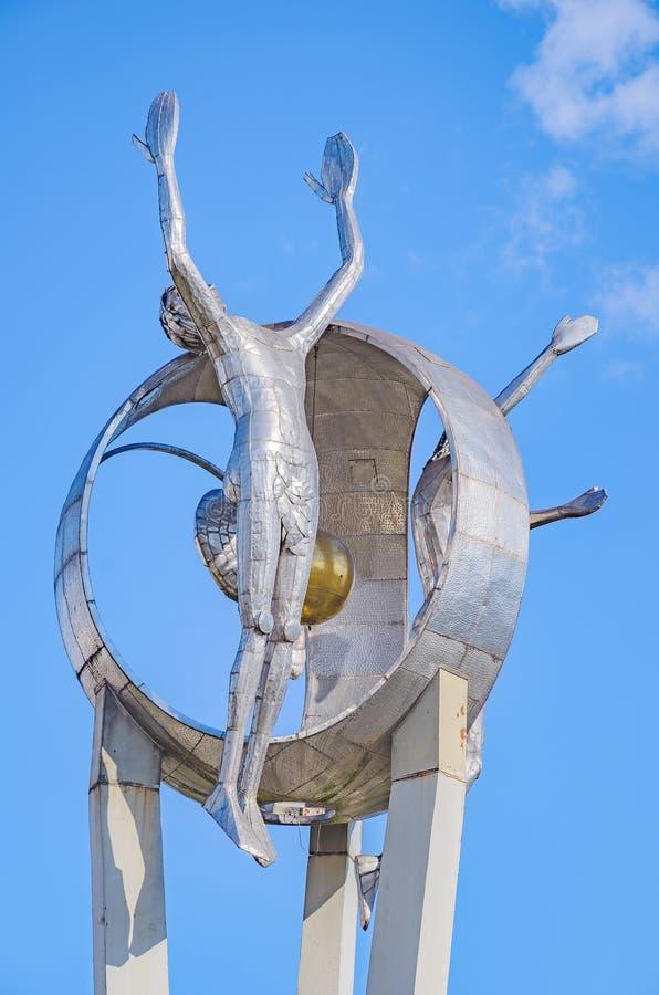 Monument O Passageiro in Londrina-stad royalty-vrije stock afbeelding