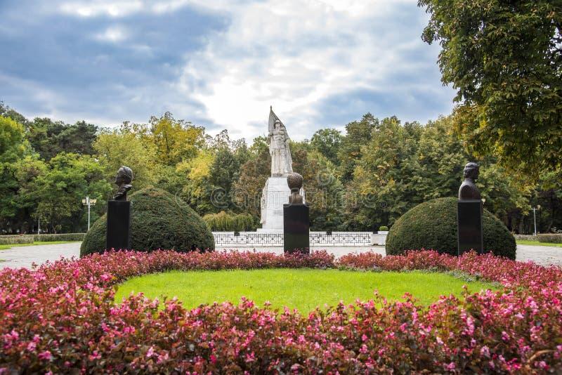 Monument Ostasului Necunoscut in Timisoara. Monument Ostasului Necunoscut in Central park, Timisoara, Romania stock photography