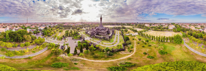 Monument ou Monumen Perjuangan Rakyat Bali, Denpasar, Bali, Indon?sie de Bajra Sandhi images libres de droits
