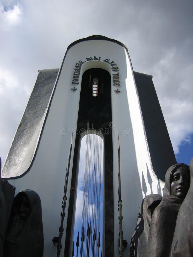 Monument på ön av revor. royaltyfria foton
