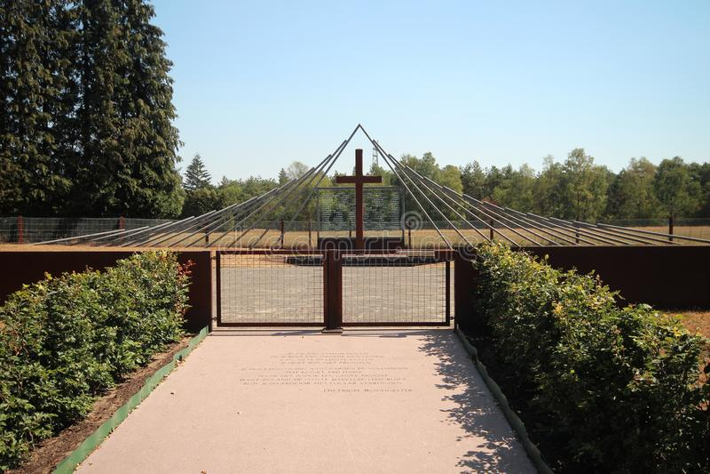 Monument på Woesten Hoeve i Hoenderloo, Nederländerna arkivbilder
