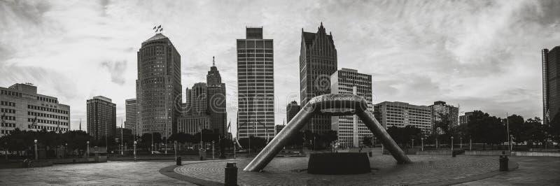 Monument-Park in Detroit stockfotos