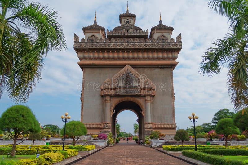 Monument Patuxai. Vientiane. Laos. Monument Patuxai, the victory gate of Vientiane. Laos stock photos
