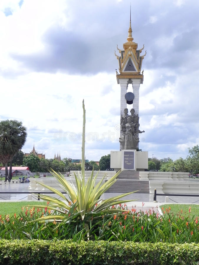 Monument Phnom Penh Cambodge d'amitié du Cambodge d'†vietnamien « photos libres de droits