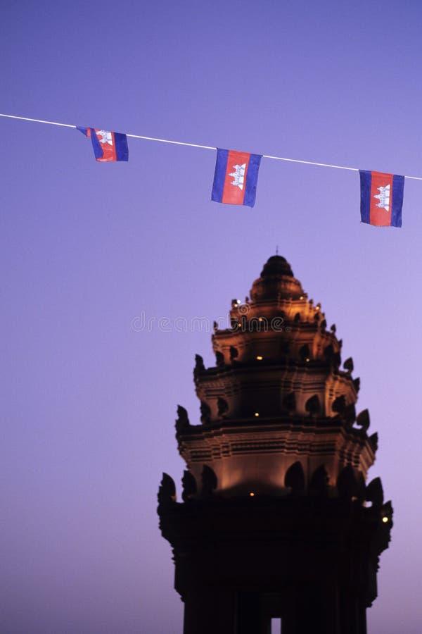 Monument Phnom Penh, Cambodge De L Indépendance Photographie stock libre de droits