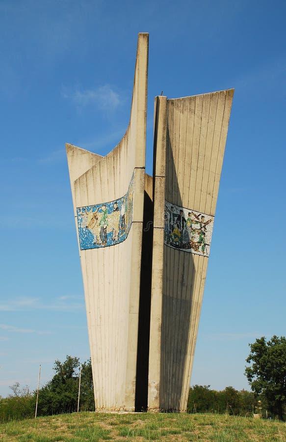 Monument in Plovanija stock foto