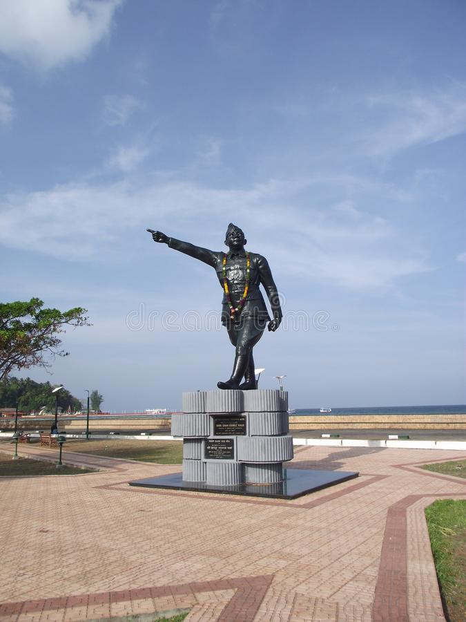 Monument in Port Blair stockfoto