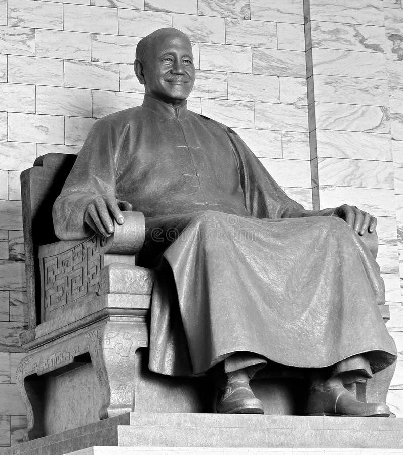 Monument president Taiwan Chiang Kai-shek in memorial Taipey Taiwan.  royalty free stock photography