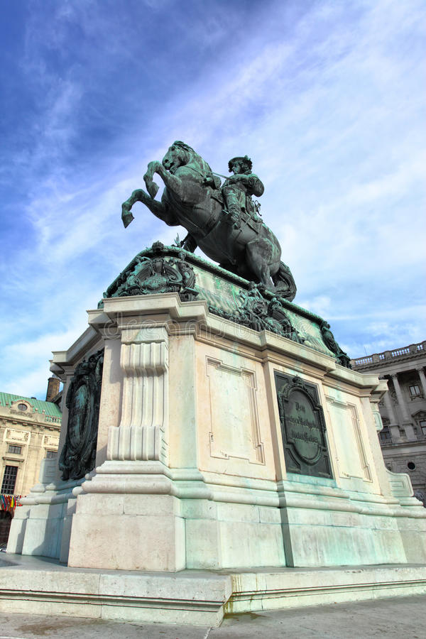 Monument of prince Eugen stock image