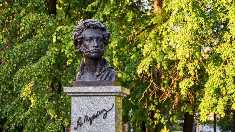 Monument of Pushkin. Monument of Pushkin. Tomsk royalty free stock image