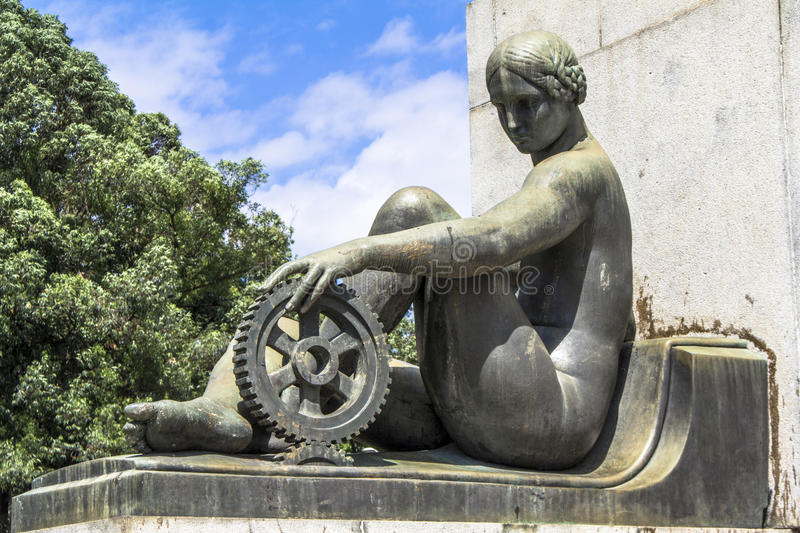 Monument Ramos de Azevedo royalty free stock photography