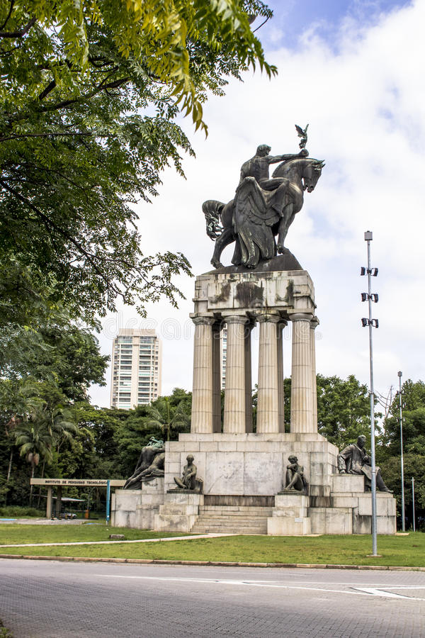 Monument Ramos de Azevedo stock images