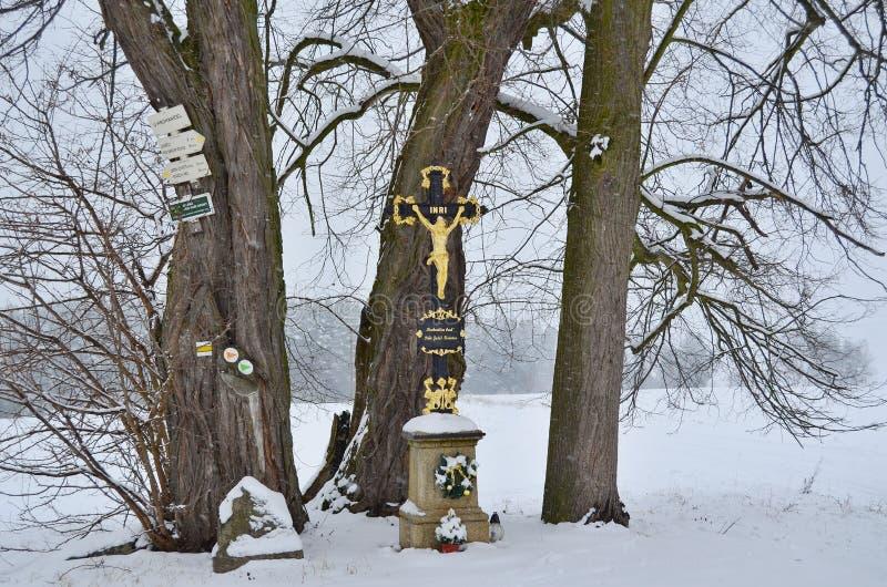 Monument religieux historique La Bohême du sud image stock