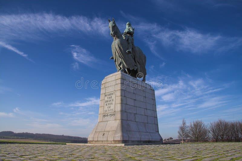 monument Robert de bruce de bannockburn photos stock