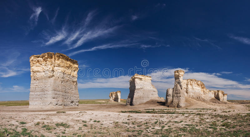 Monument Rocks in KS royalty free stock images
