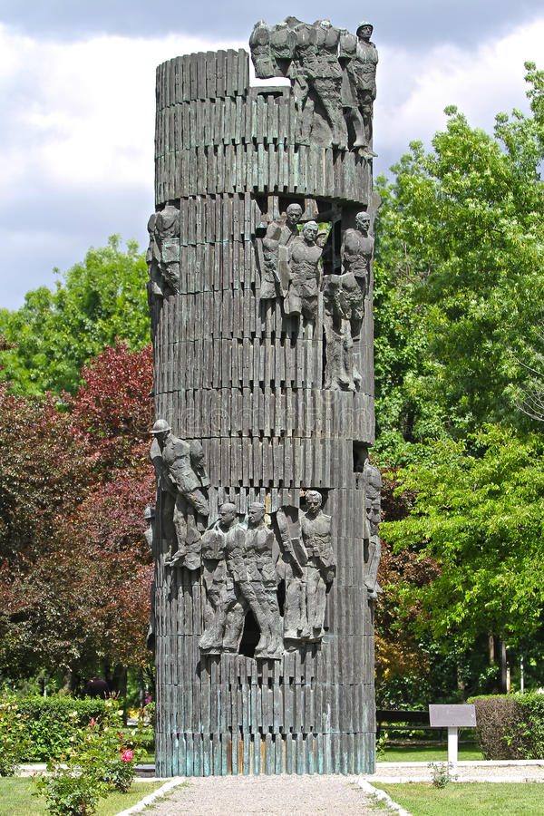 Monument roumain d'infanterie images libres de droits