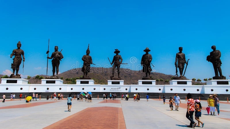 Monument royal de la Thaïlande chez Hua-Hin Thaïlande image libre de droits