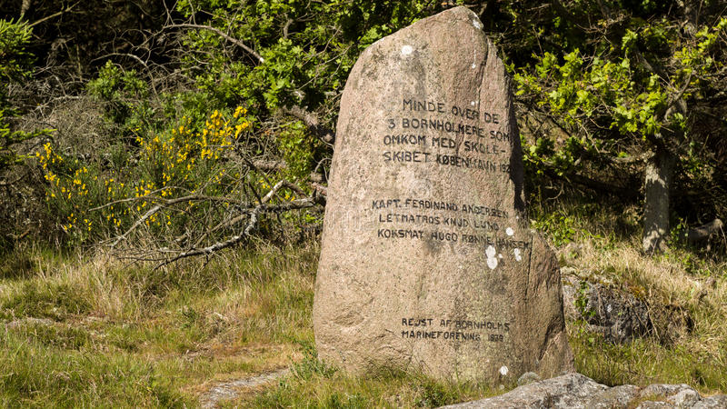 Monument for 3 sailers who died on the sailing ship Koebenhavn royalty free stock images