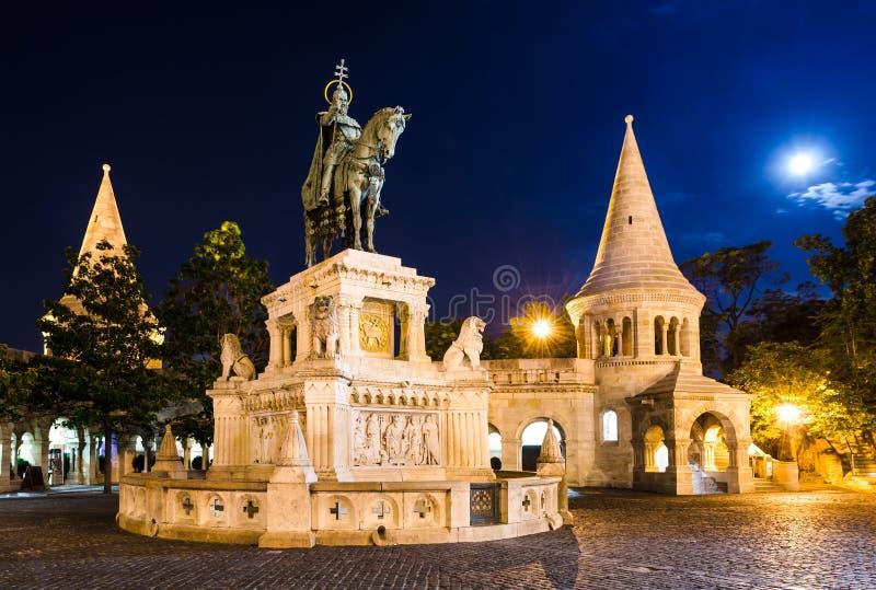 Monument of Saint Stephen, Budapest stock images