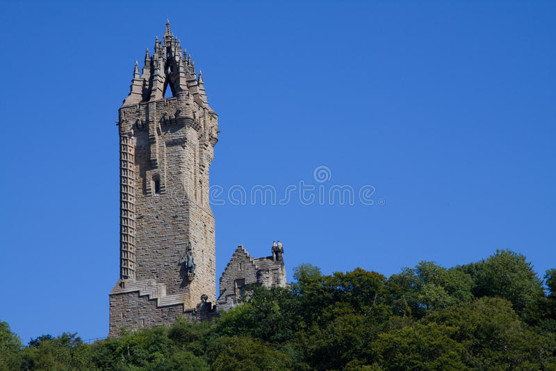 monument scotland stirling wallace royaltyfri bild